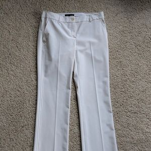 theory white ladies WOMEN'S Size 8 polyester pants